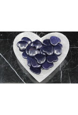Blue Sandstone/Goldstone Flat Heart-Small