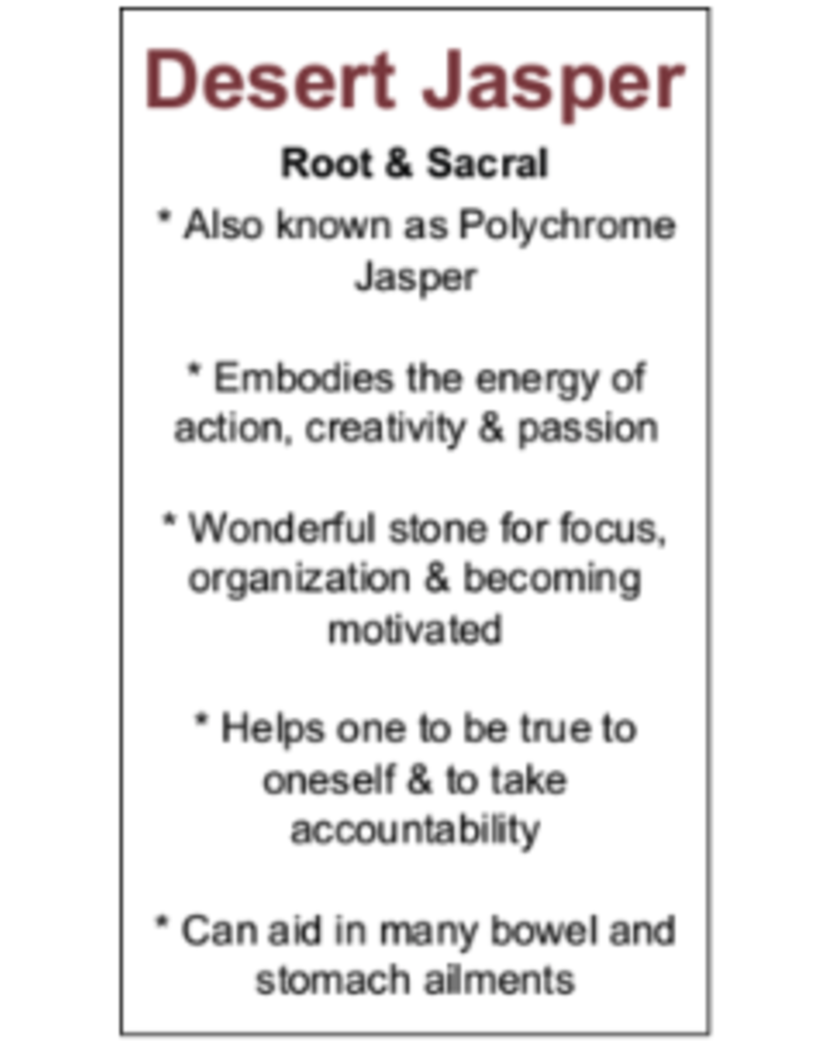 Desert Jasper/Polychrome Palm/Pillow Stone Large