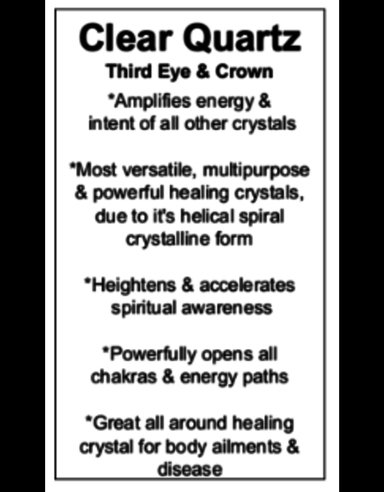 Pendulum -Clear Quartz Angel Chakra Beaded