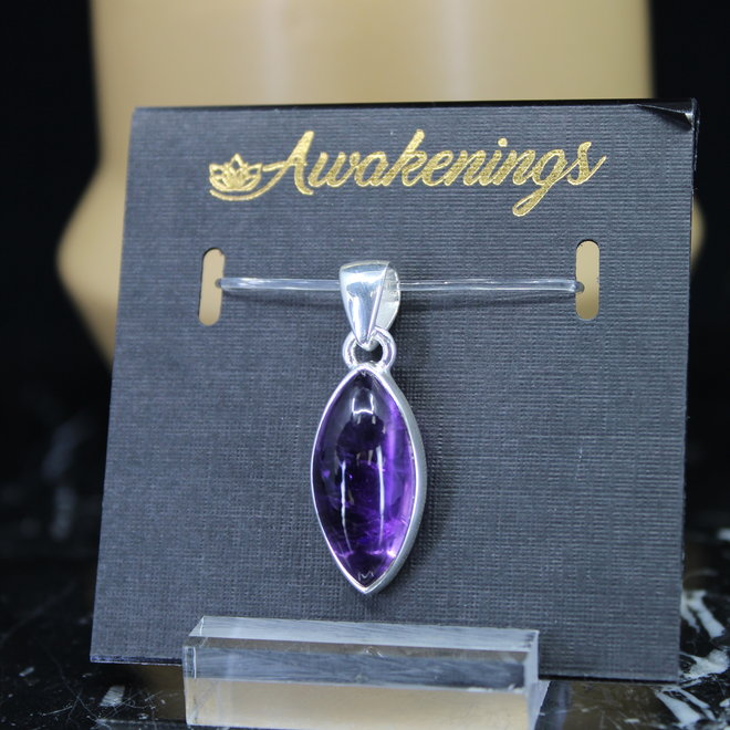 Amethyst Pendant #7 - Diamond