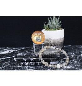Gold Rutile w/Phenakite Bracelet - 6mm