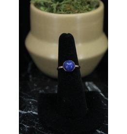 Rose Gold Lapis Ring - Size 10