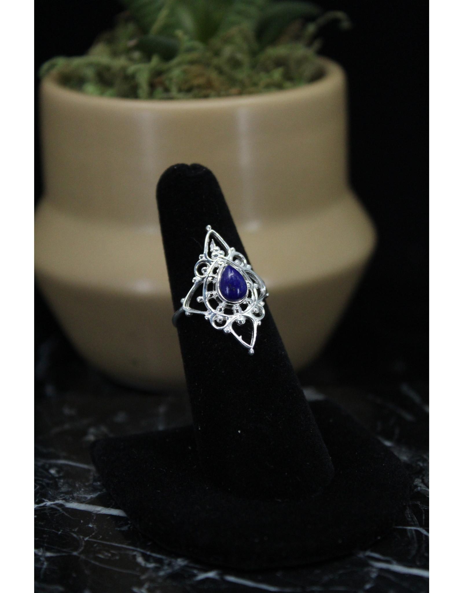 Blue Kyanite Ring (Fancy Teardrop) - Size 8