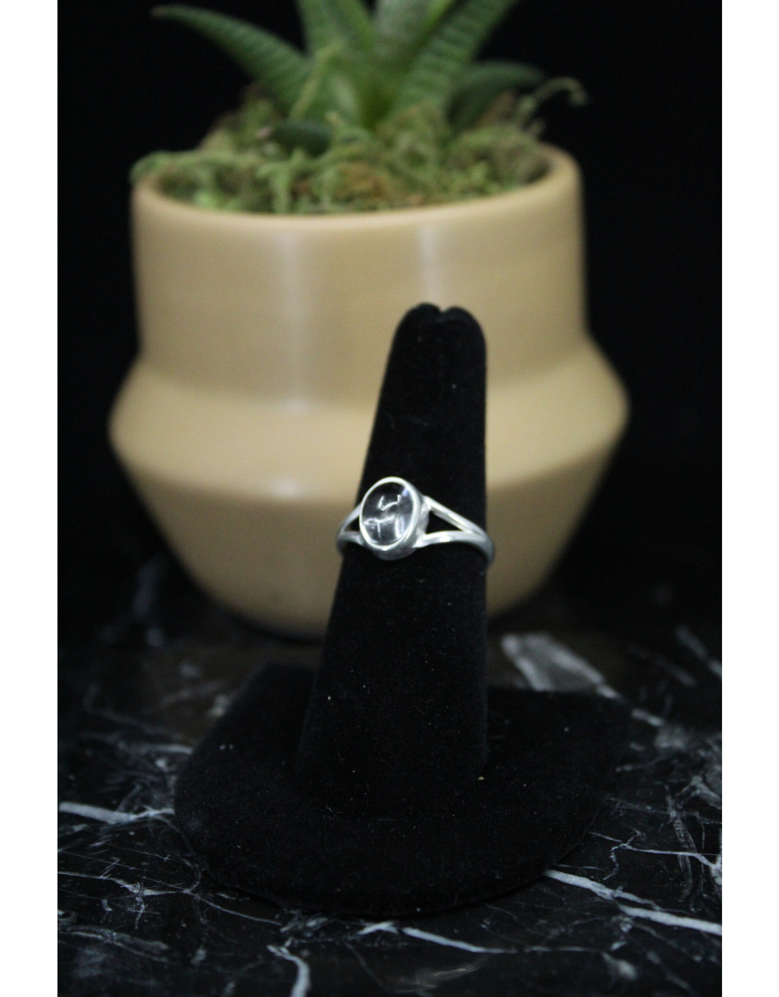 Clear Quartz Ring (Oval)  - Size 8