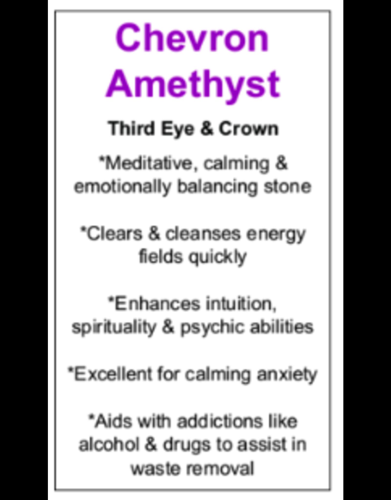 Chevron Amethyst Ring (Teardrop) - Size 8