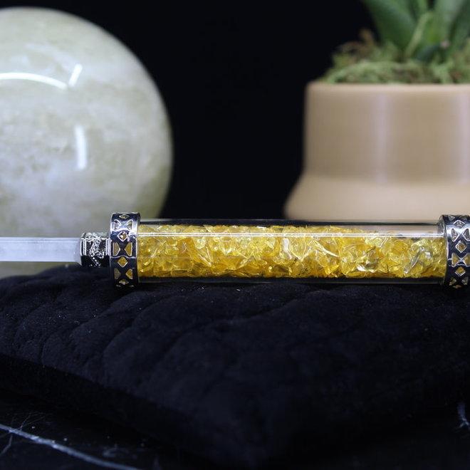 Citrine Chambered Wand-Pendulum