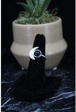 Black Onyx Ring (Moon) - Size 7