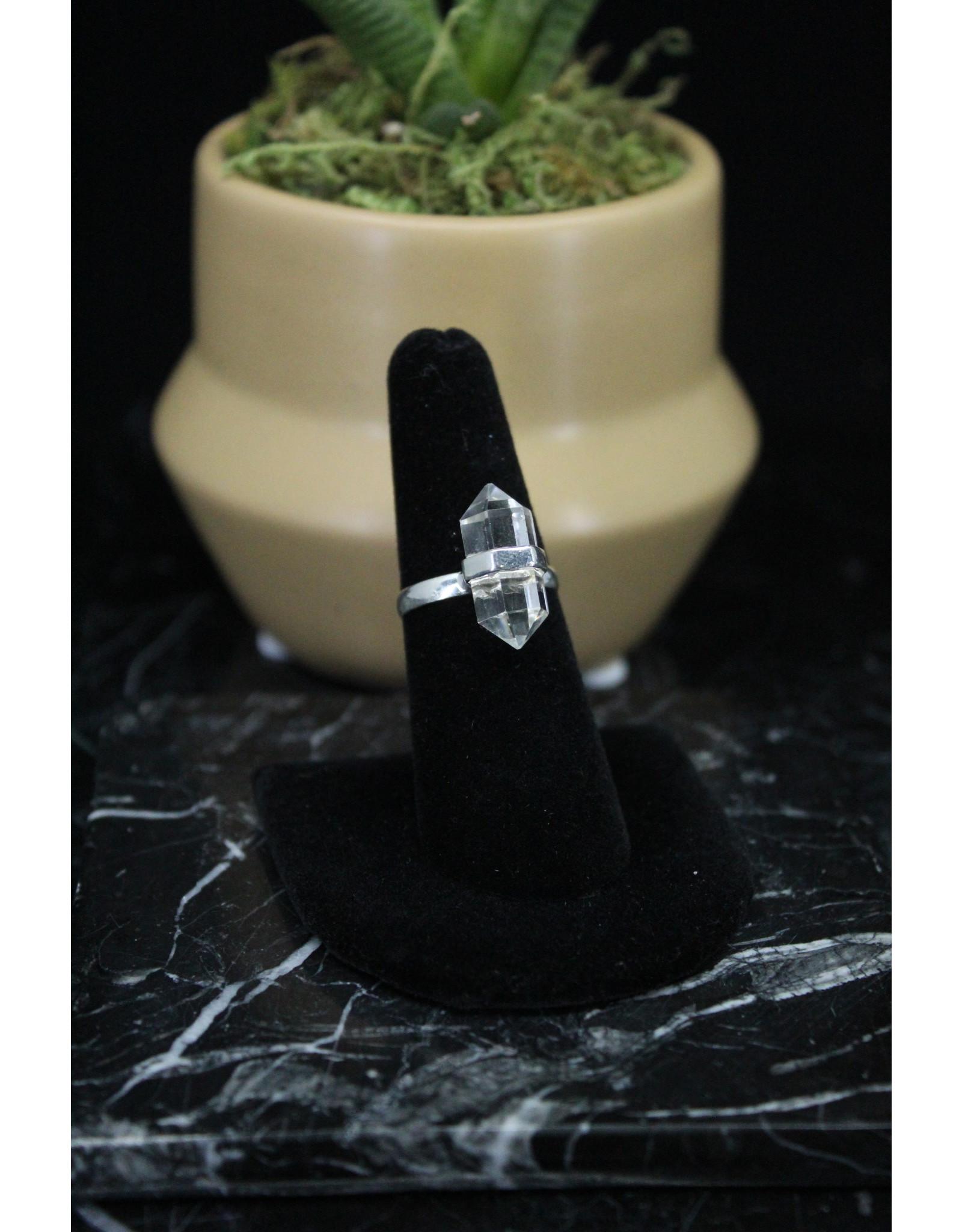 Clear Quartz Ring - Size 6