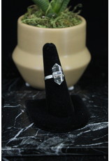 Clear Quartz Ring (Pointed) - Size 8