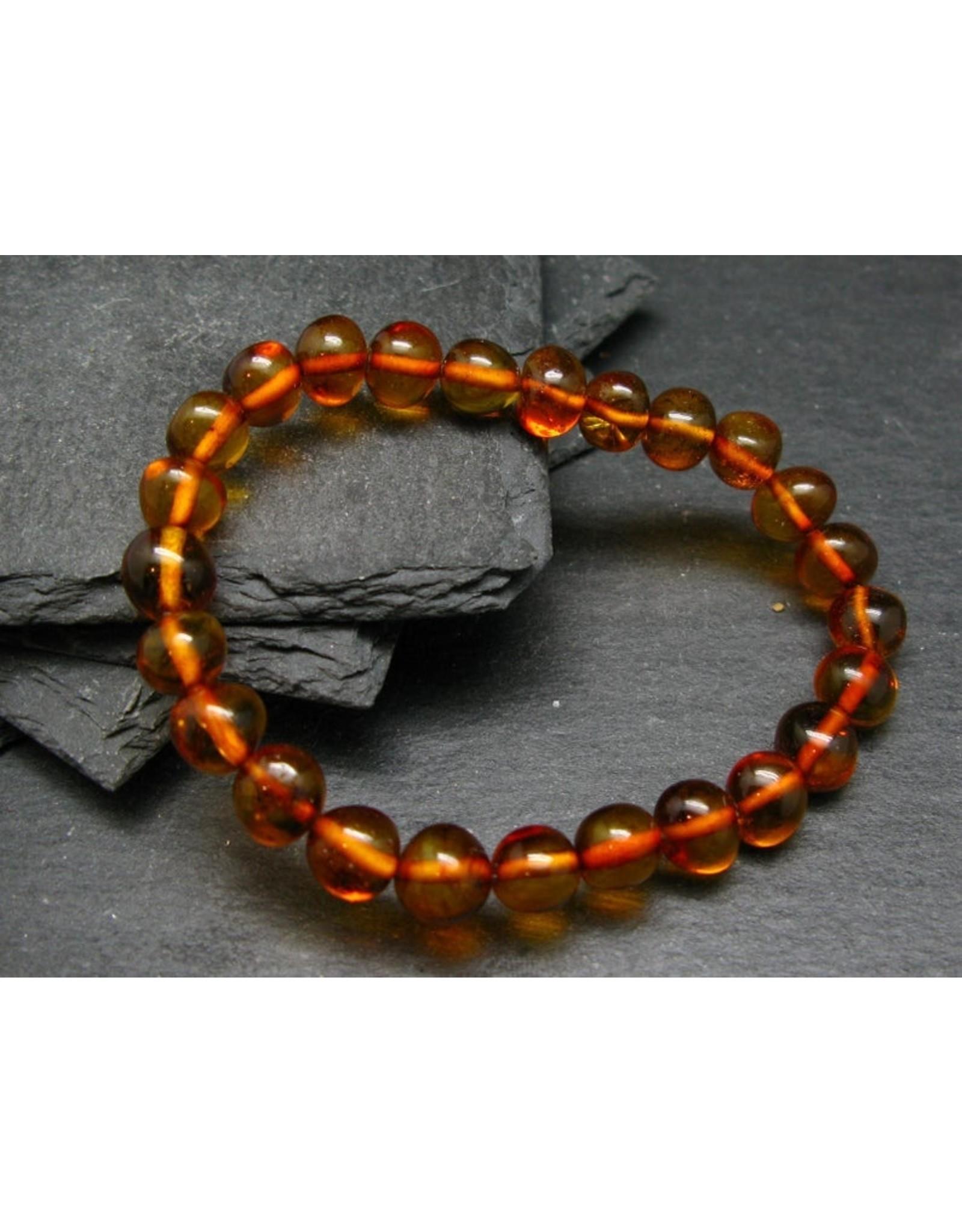 Cognac Baltic Amber Bracelet-8mm