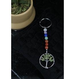 Chakra Bead Peridot Tree of Life- Keychain