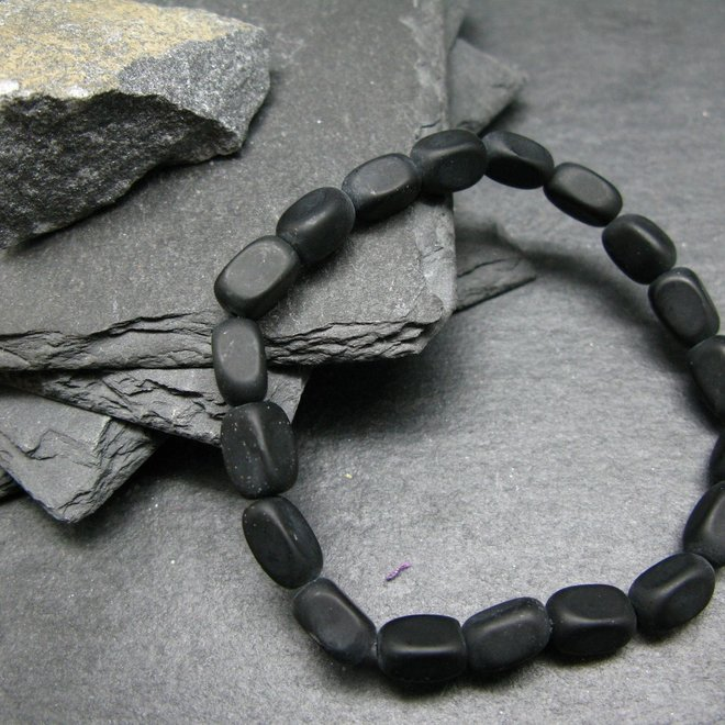 Black Azeztulite Bracelet - 10mm Tumbled