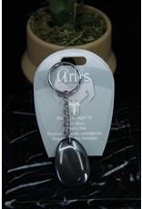 Aries - Hematite Keychain