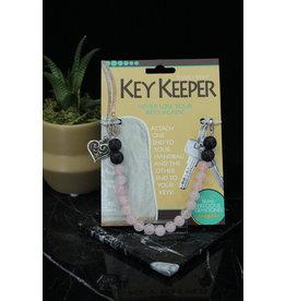 Key Keeper Rose Quartz 8mm-Heart Charm