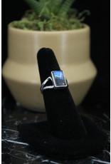 Blue Labradorite Ring (Rectangle) - Size 6