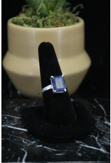 Blue Sapphire Ring (Rectangle) - Size 8