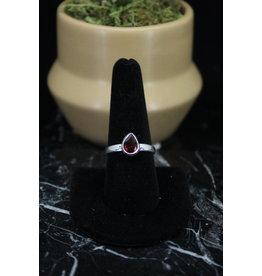 Faceted Garnet Ring - Size 9