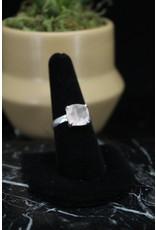 Rose Quartz Ring (Square) - Size 8
