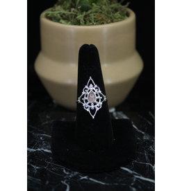 Rose Quartz Ring (Fancy Teardrop) - Size 7