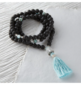 Silver & Sage - Cool, Calm, & Collected Mala