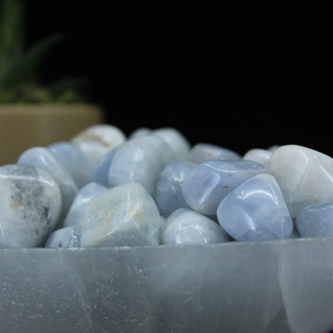 Blue Calcite-Tumbled