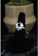 Amethyst Ring (Lotus) - Size 8