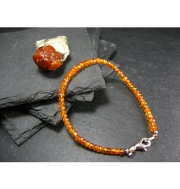 Spessartine Garnet Bracelet - 3mm