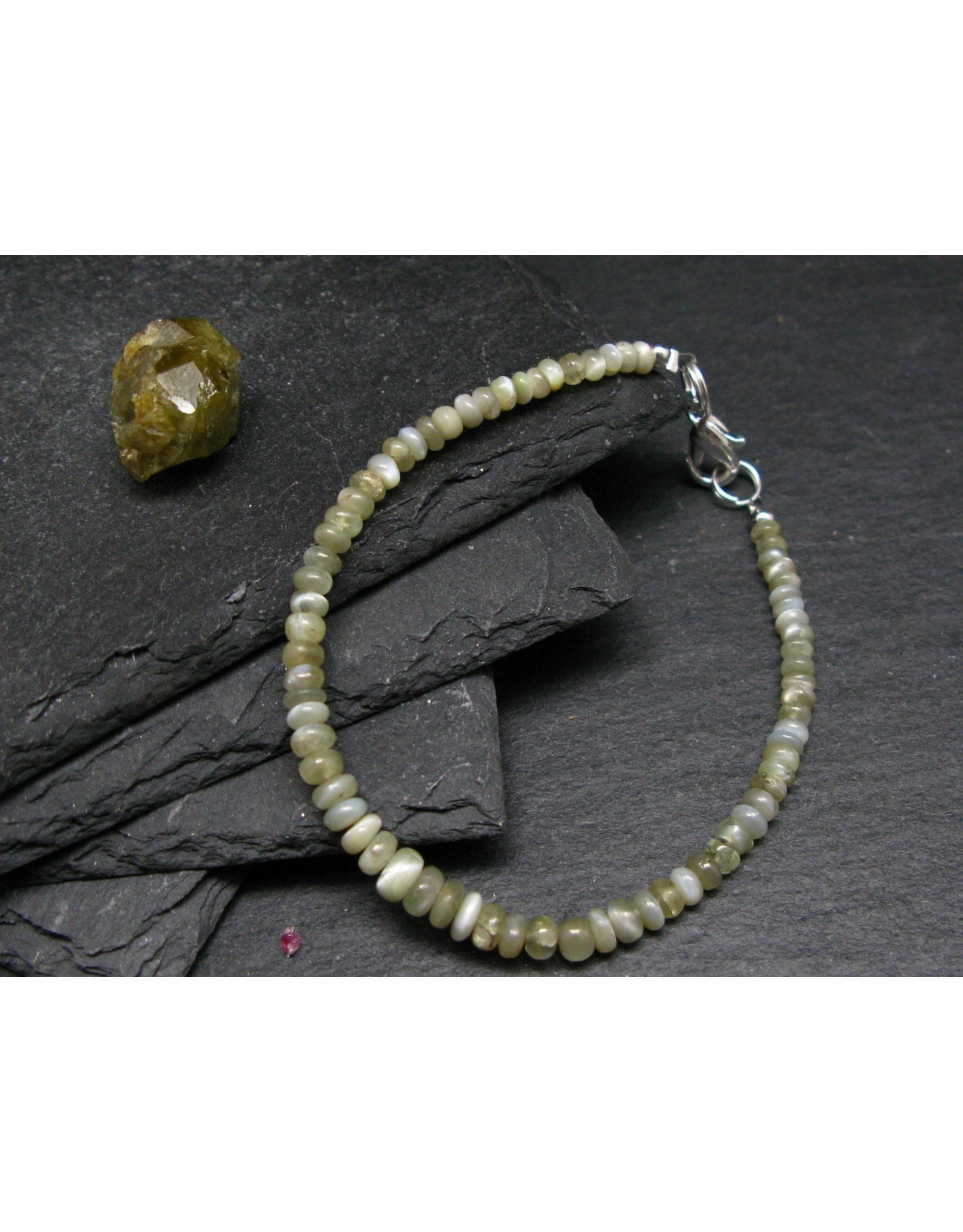 Chrysoberyl Cats Eye Bracelet - 4.5mm Rondelle Beads
