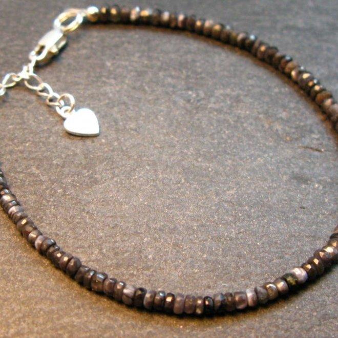 Alexandrite Bracelet - 3mm Rondelle Beads