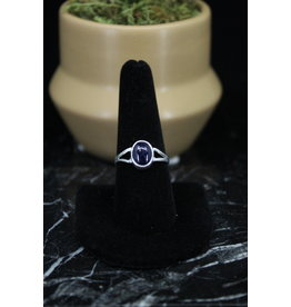 Blue Sapphire Oval Ring - Size 9