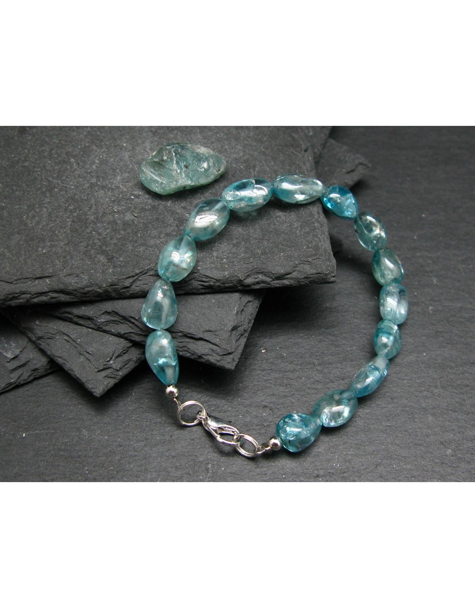 Blue Zircon Bracelet - 10mm Tumbled