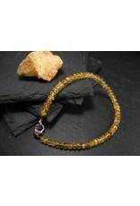 Agni Gold Danburite Bracelet - 4mm Rondelle Beads
