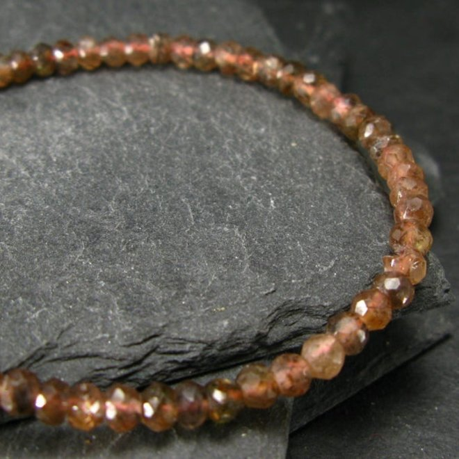 Andalusite Bracelet - 4mm Rondelle Beads