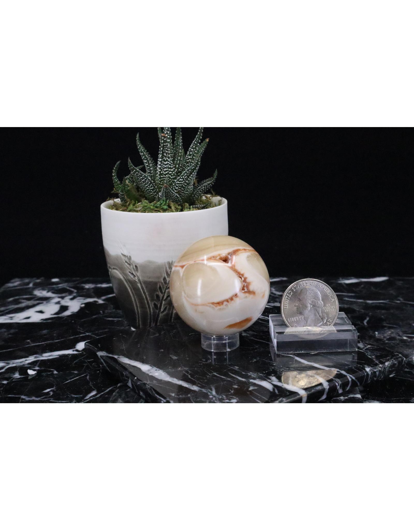 Amber Calcite Sphere Orb-40mm