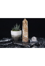 Amber Calcite Tower Point-Medium #1