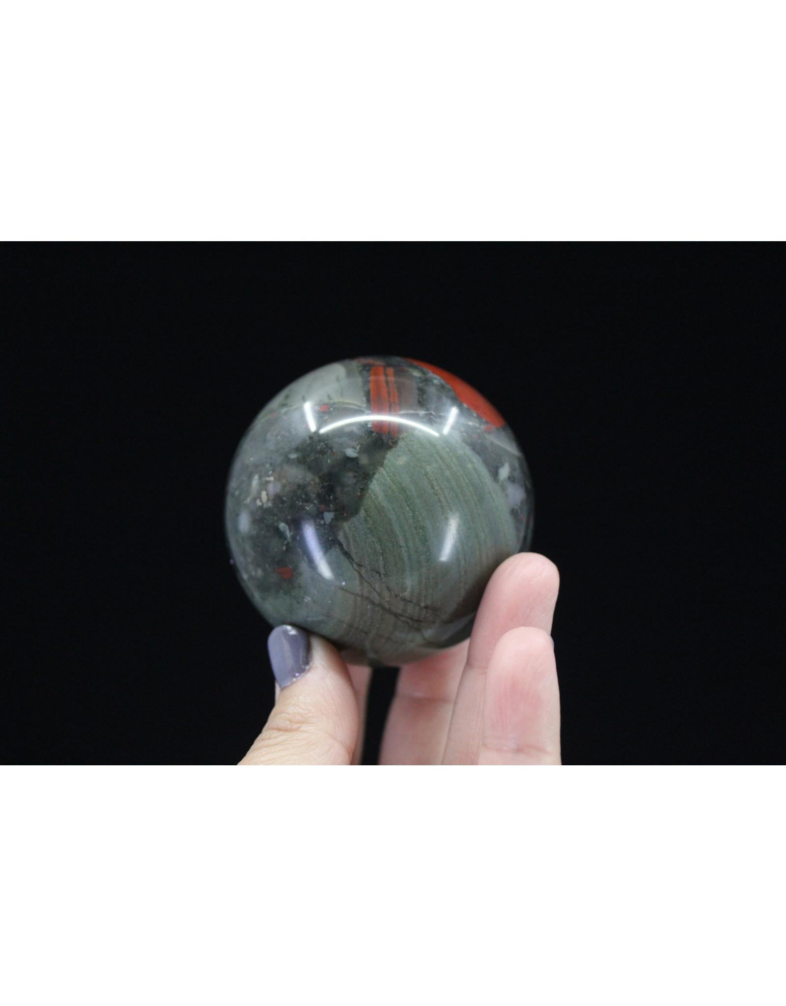 Bloodstone/Heliotrope Sphere Orb - 60mm