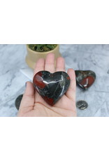 Bloodstone/Heliotrope Heart-Large