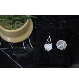 Moonstone Pendant w/ Sterling Wire Wrap