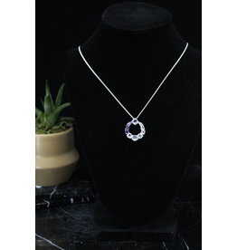 Energy Circle Amethyst / Clear Quart Necklace