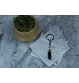 Black Obsidian Point Key Chain