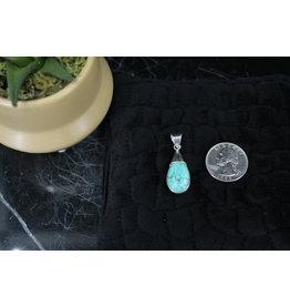 Turquoise & Black Onyx Reversible Sterling Pendant