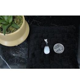 Moonstone & Labradorite Reversible Sterling Pendant