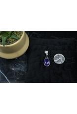 Amethyst & Amazonite Reversible Sterling Pendant