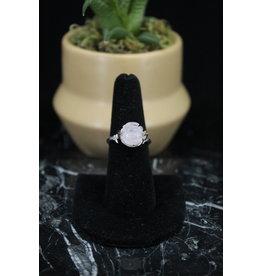 Spinning Rose Quartz Ring Adjustable