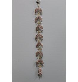 "Gold Rose Quartz Tree of Life Wall Hanging-18"""