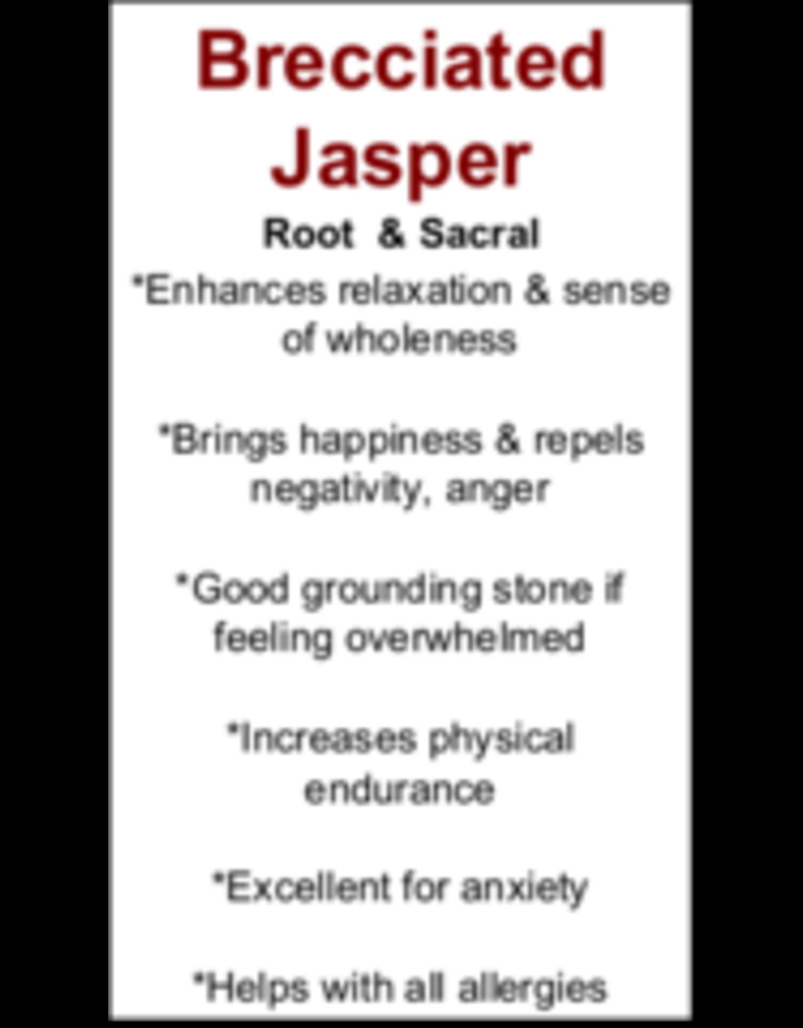 Brecciated Red Jasper Rosette-Large
