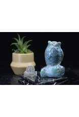 Blue Aura Quartz Owl #3