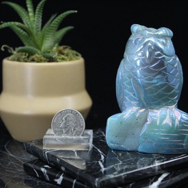 Blue Aura Quartz Owl #2
