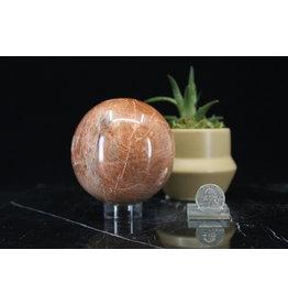 Peach Moonstone Sphere Orb-85mm