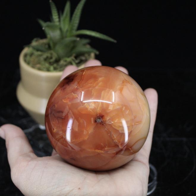 Carnelian Sphere Orb 70mm